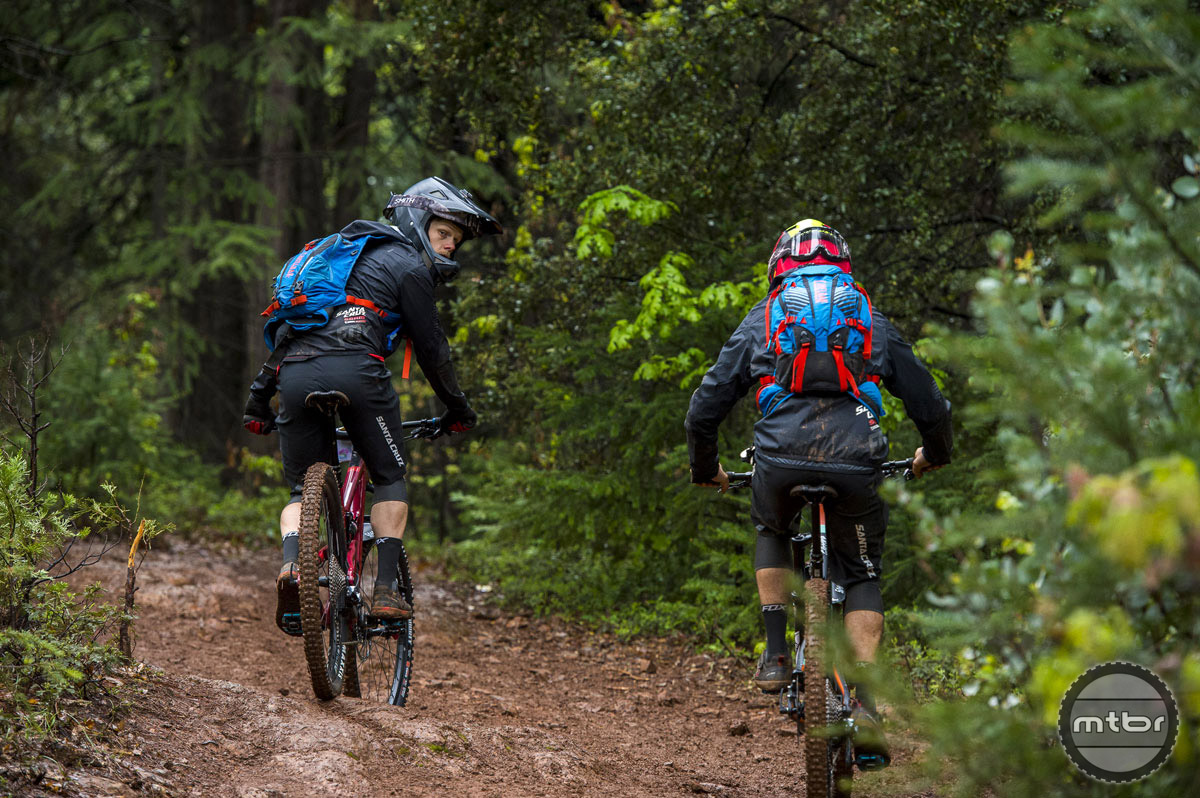 The Low Rider (L) and K.U.D.U. (R) packs are perfect illustration of how CamelBak has met the needs of the sport's ever changing landscape.