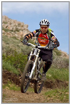 Gregg Kato, Mtbr manager, samples the Deer Valley trails at 2010 Press Camp.