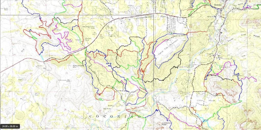 Recent Sedona Mountain Bike Trail Map Updates Mtbr Com