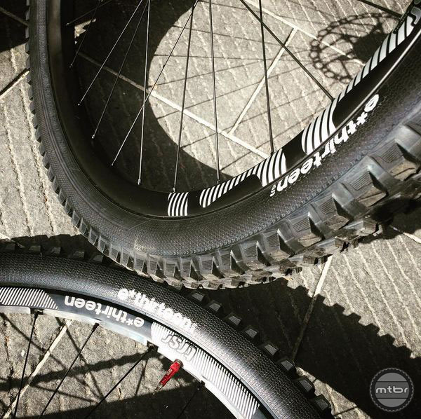 The sidewalls are reinforced with an abrasion resistant material to help protect against punctures. Photo courtesy of e*thirteen