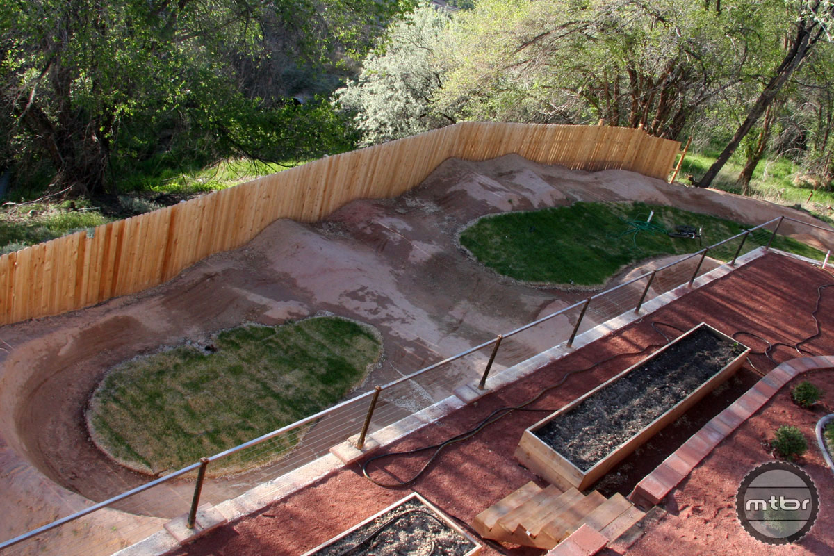 Backyard Pump Track Designs :  Cribs At home with Trek enduro star Ross Schnell ? Backyard Bliss