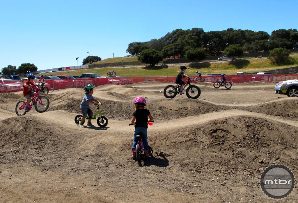 A pump track is a safe skills-building area for kids of all ages.