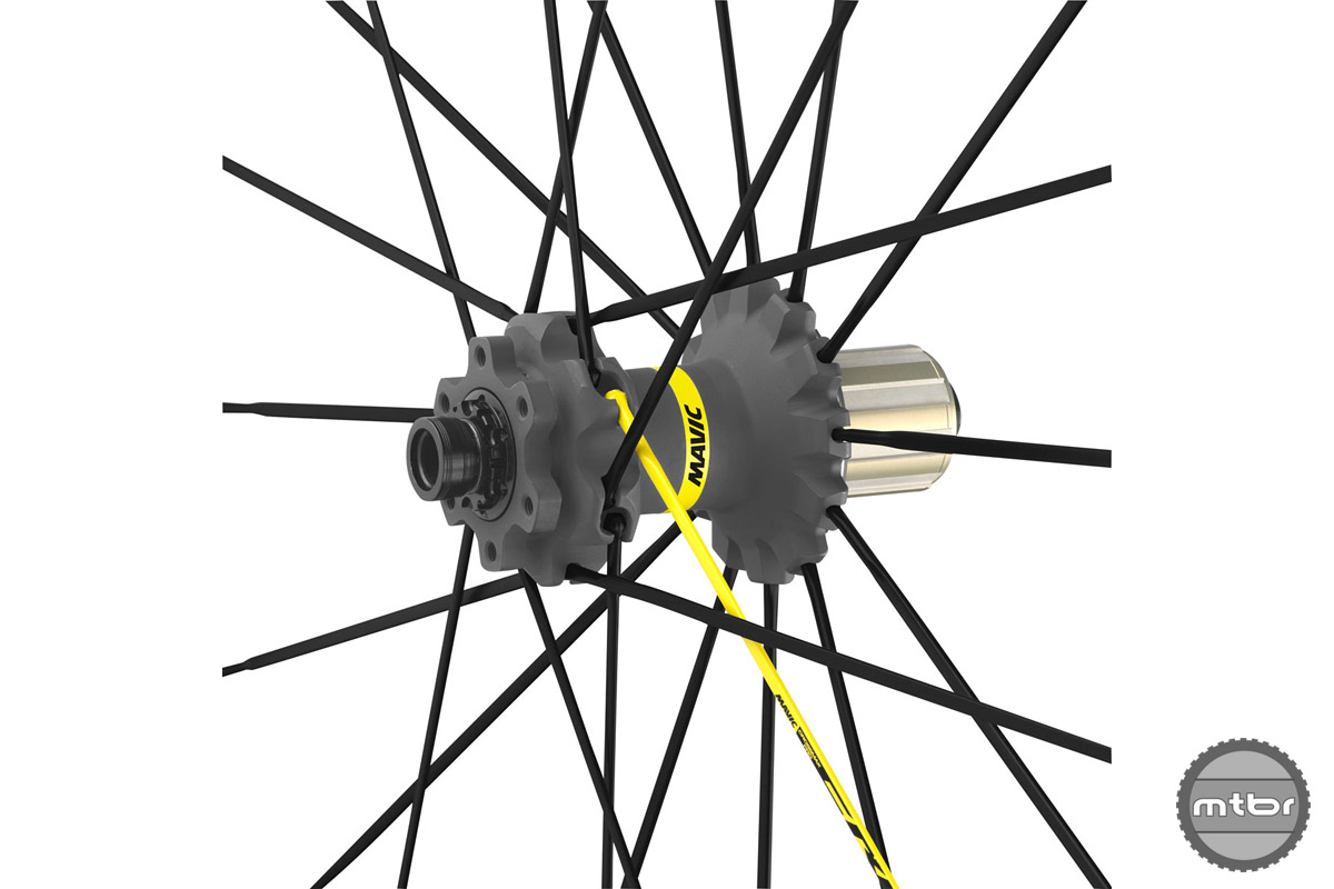 Hubs are laced with 24 Zicral with Isopulse spokes for better stiffness and responsiveness.