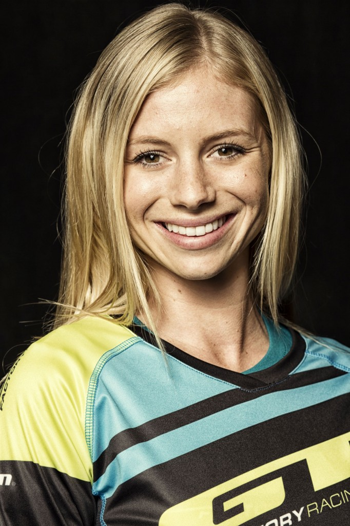 Downhill pro Rachel Throop is a member of the GT Factory Racing team.