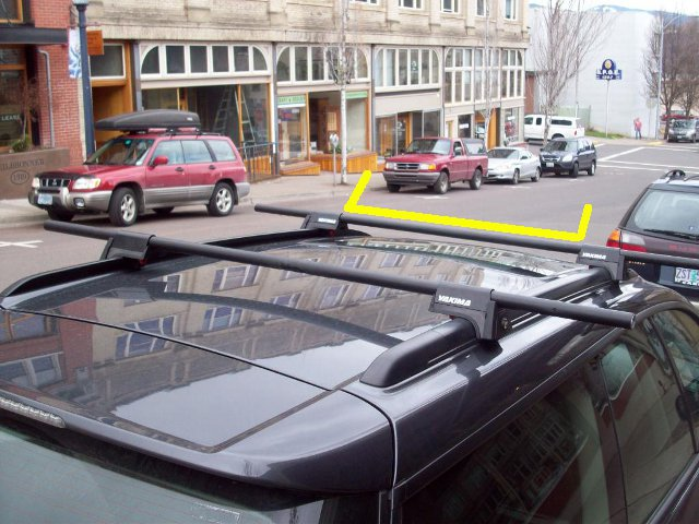 Three Yakima Frontloaders on top of Subaru Outback?-railgrab-line.jpg