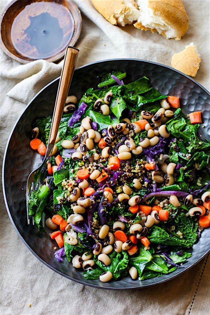 Vegetarian / Vegan / Raw recipes & chat-rainbow-power-greens-salad-black-eyed-peas2.jpg