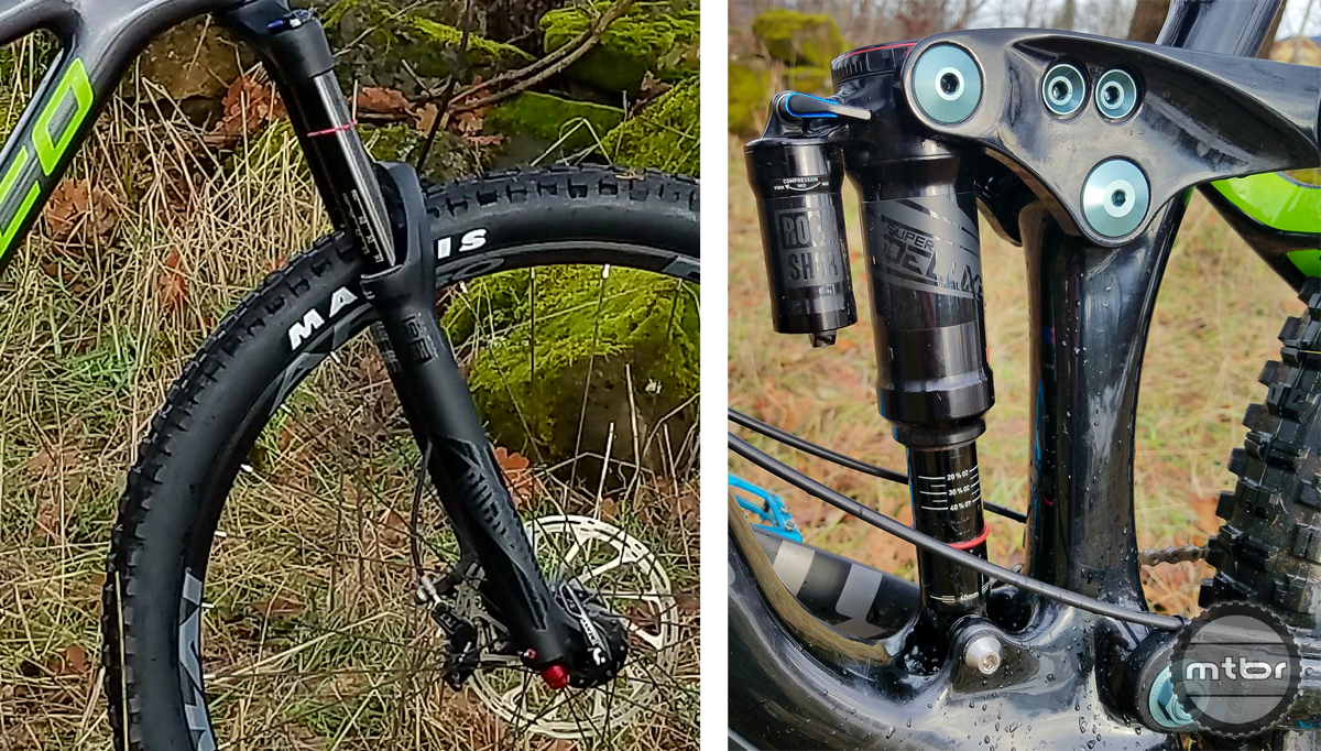 Range 92 Fork and RockShox Deluxe Metric