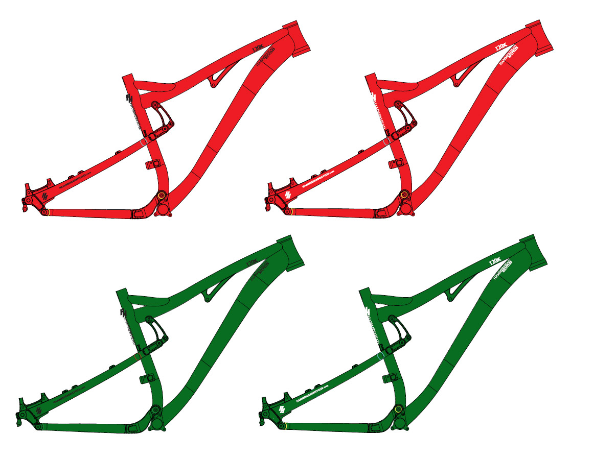 Hammerhead custom colors red-green