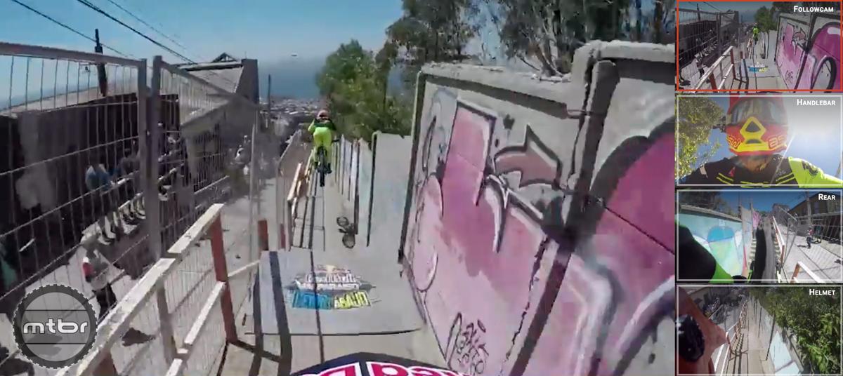 POV video from world's gnarliest urban downhill track