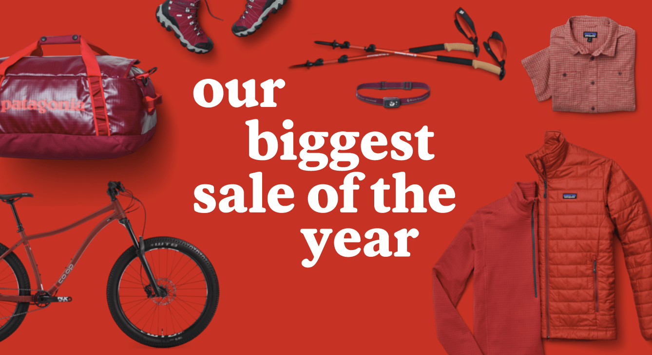 Up to 30% helmets, 25% shoes and apparel, 20% off car racks, 15% off bikes, and more!
