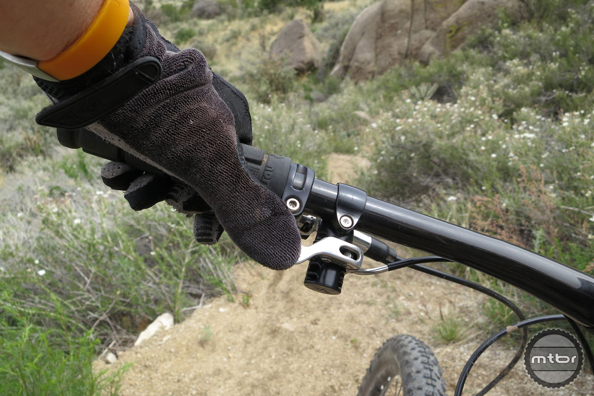 More hand on bar means a safer ride.