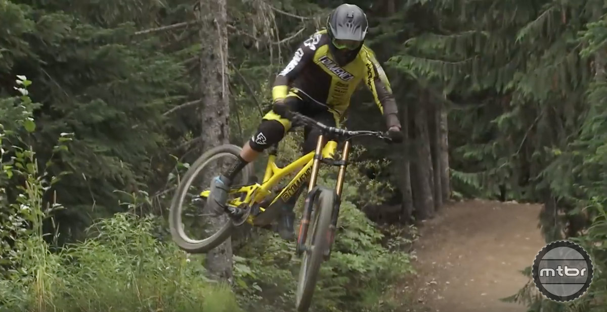 No one goes bigger at Whistler Bike Park than Remy Metailler.