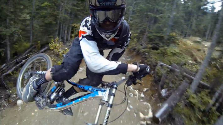 Experiment with different angles to give the viewer the a better sense of the rider and the trail.