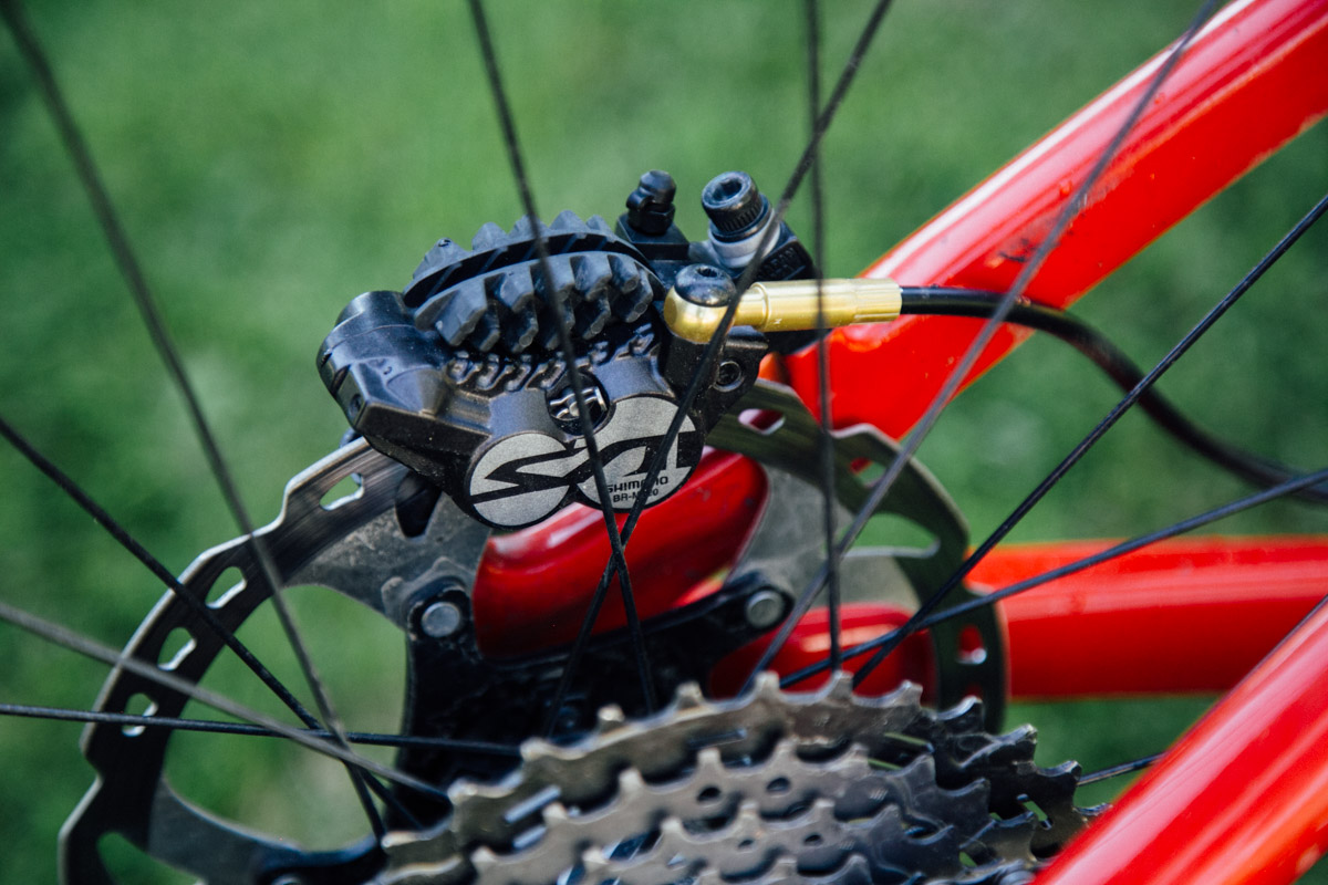 Four piston brakes a must at the EWS.