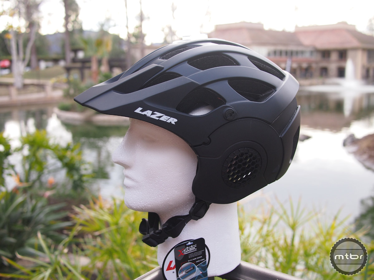 The new all mountain style helmet from Lazer, the Revolution has side ear pieces that are removable.