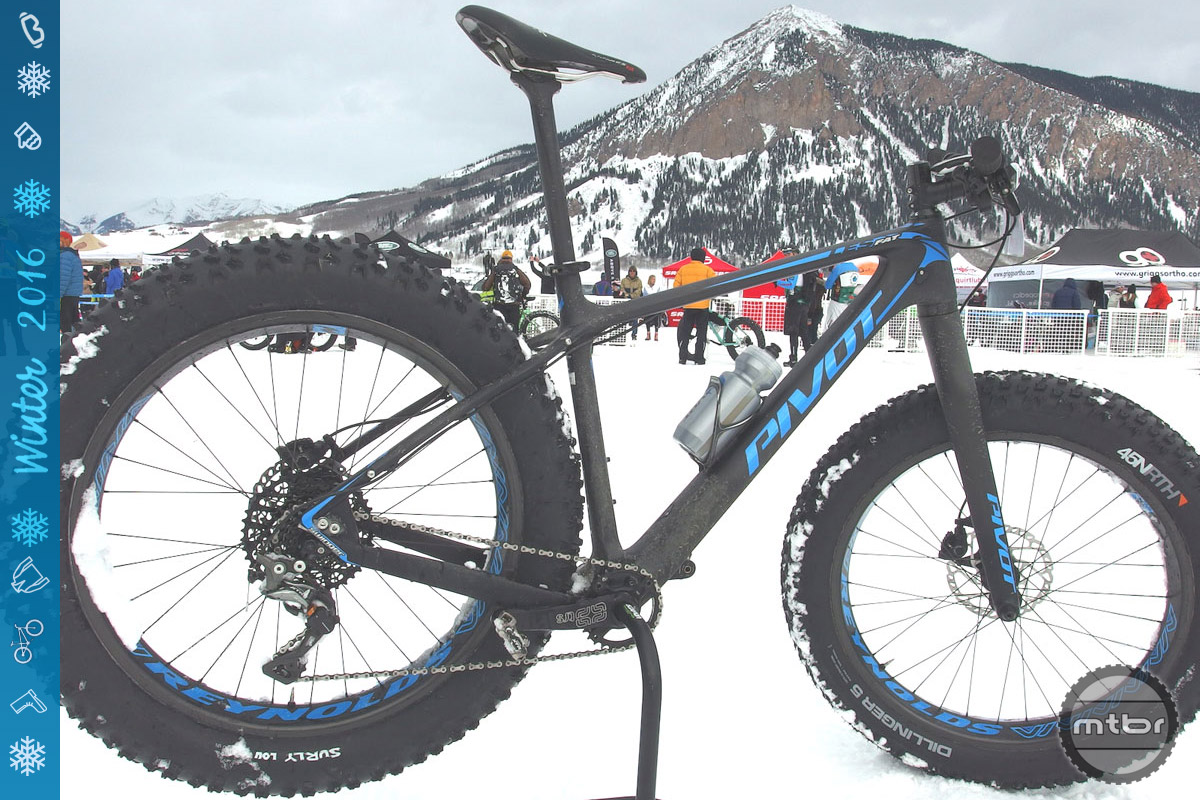 Fat Bike Worlds winner Robbie Squire reported that his race rig tipped the scales at around 27 pounds, thanks in part to the Reynolds Dean wheels. Photo courtesy Reynolds