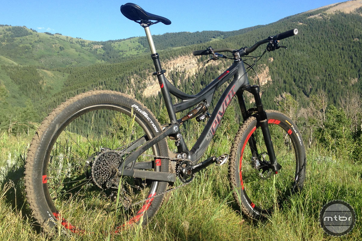 Weight savings on our Pivot Mach 6 test bike wasn't huge, but any rotational weight loss is a good thing.
