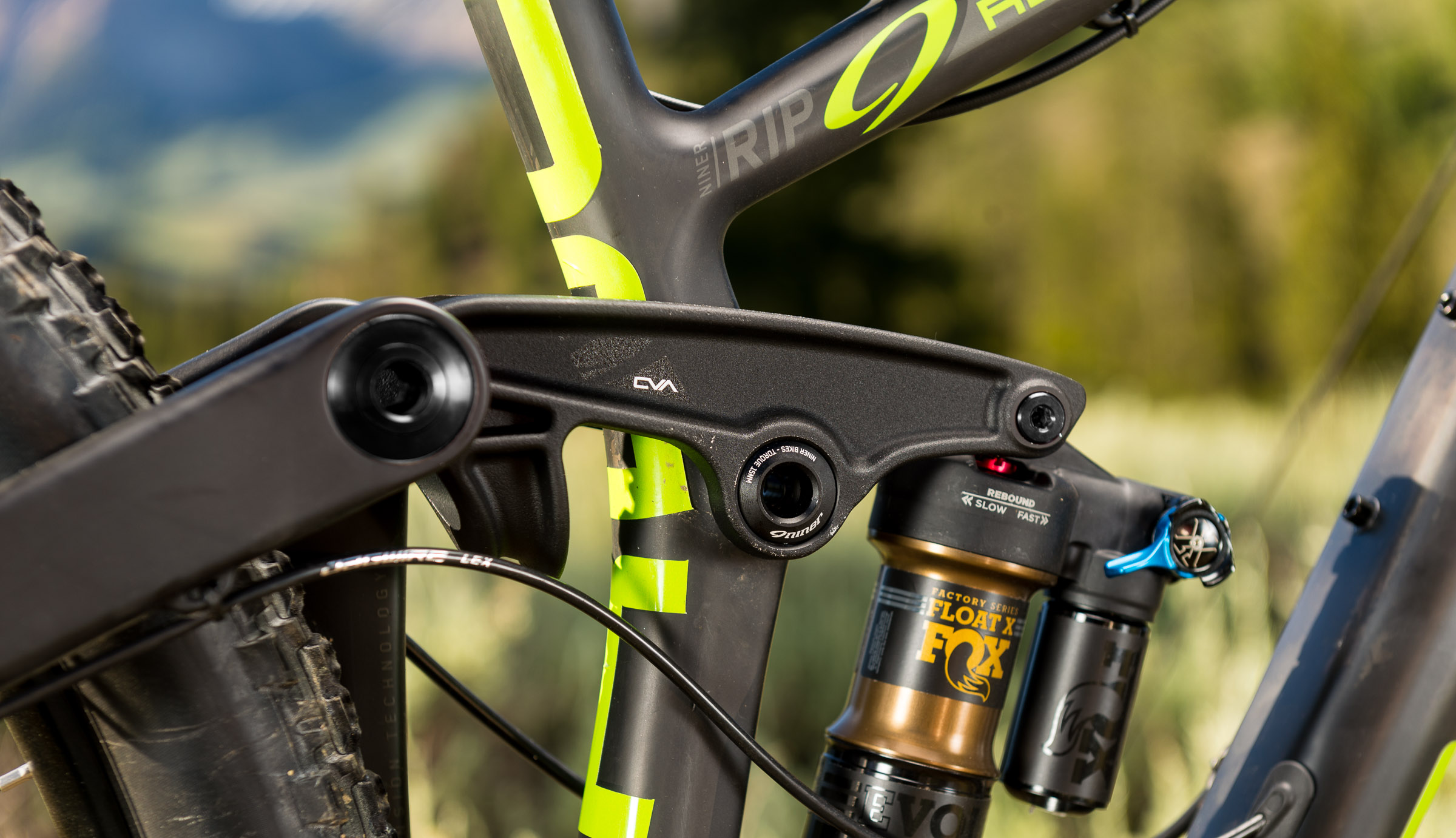 Rear suspension is 150mm driven by a seatpost mounted rocker link.