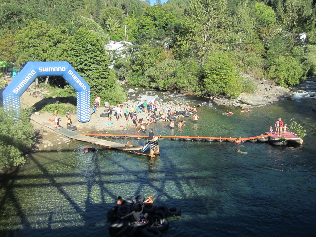 Where it all happens – the River Jump World Championships will be held on Saturday.