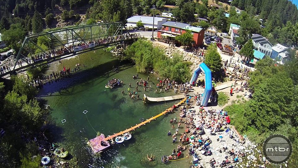 One of the many highlights of the Downieville Classic are the unofficial River Jump World Championships.