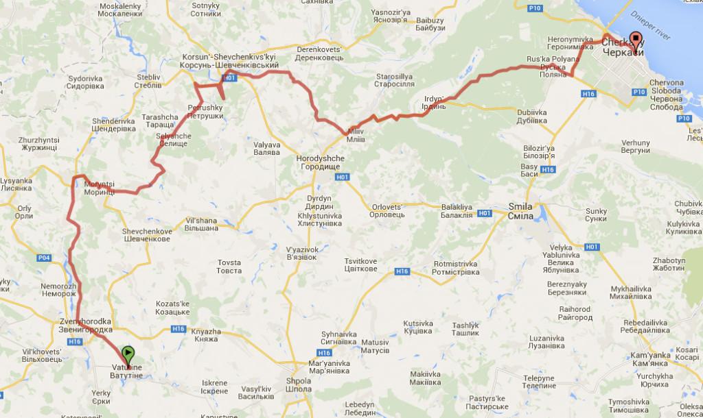 Cycling in Central Ukraine 2. Taras Schevchenko Places-road-1024x610.jpg