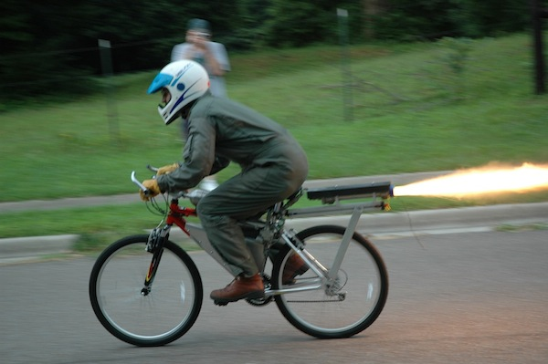 Rocket bike to gain an advantage on Strava