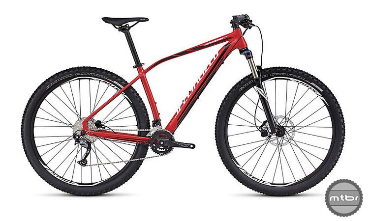 The Rockhopper Comp 29 features Specialized's A1 SL aluminum and comes in an XXL size.