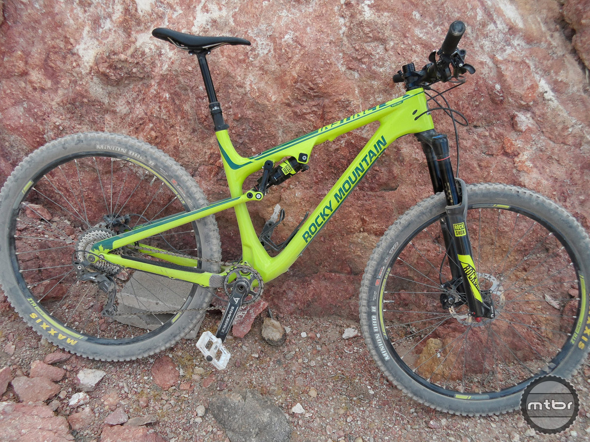 The Rocky Mountain Instinct 990 MSL BC Edition 29er trail bike.