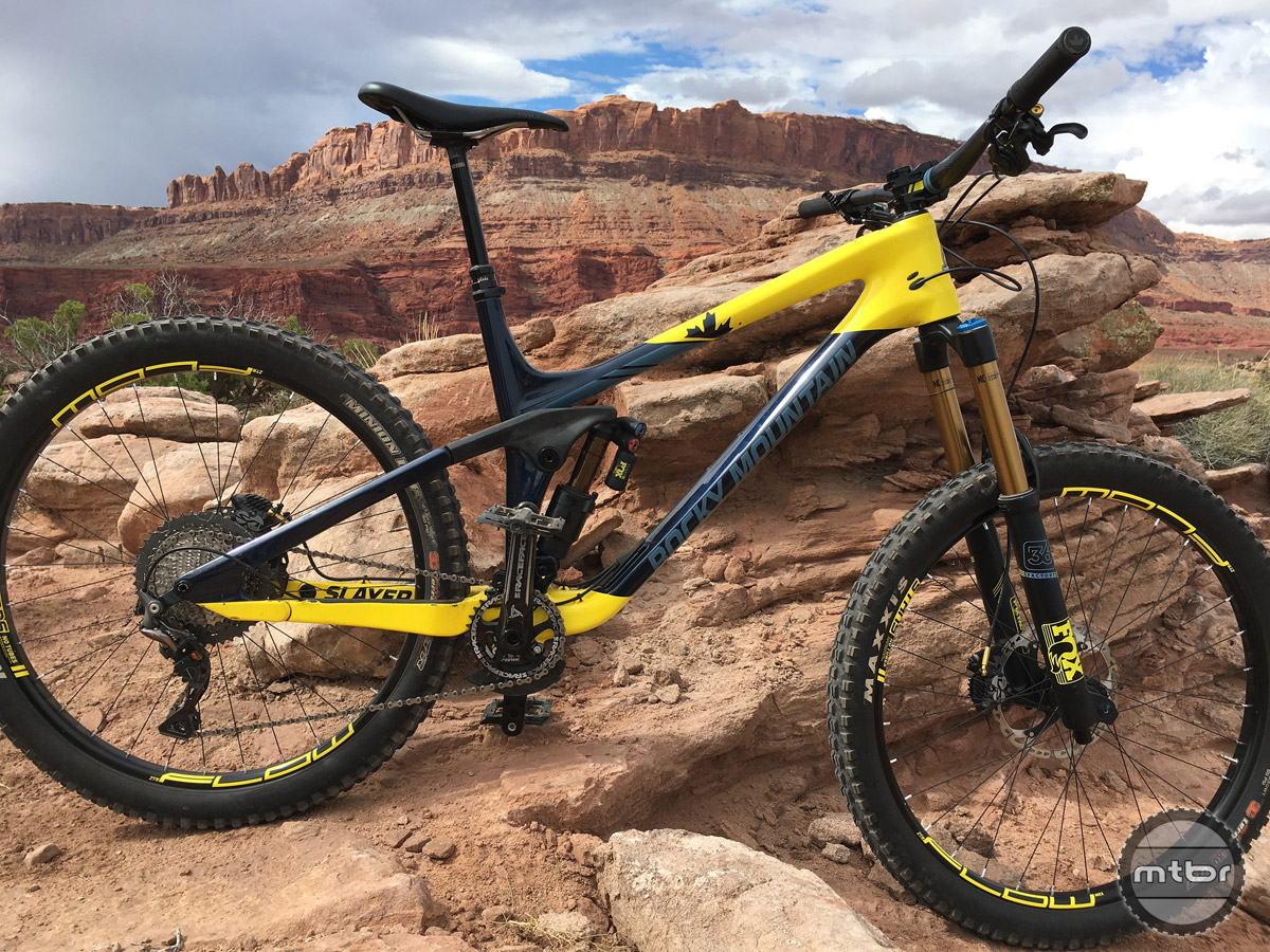 outerbike test sessions rocky mountain slayer mountain. Black Bedroom Furniture Sets. Home Design Ideas