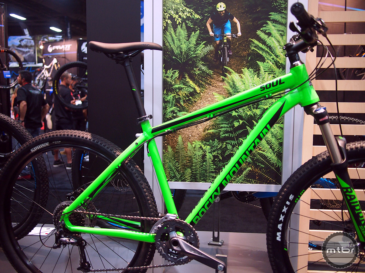 The Rocky Mountain Soul is an alloy hardtail with a Suntour Raidon fork with 120mm of travel.