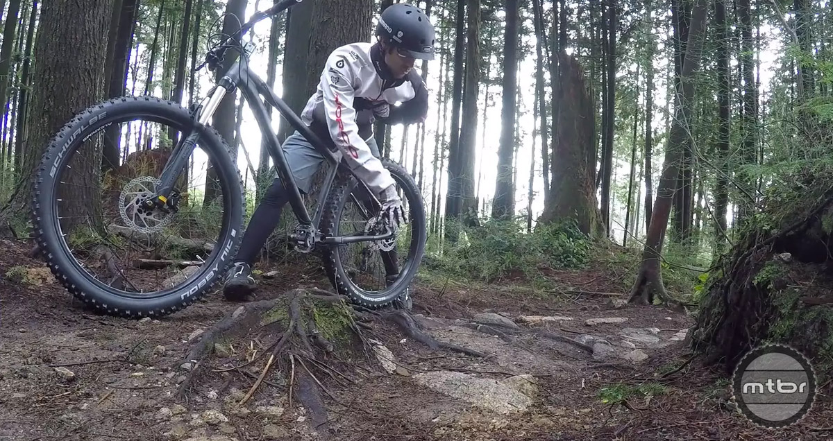 There are often tricky sections of trail that require a combination of ratcheting and hopping.