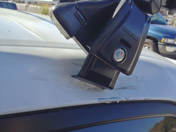 Roof Rack Ranger App - Prevents driving into garage with bike / gear-roof-rack-damage-driving-into-garage.jpg