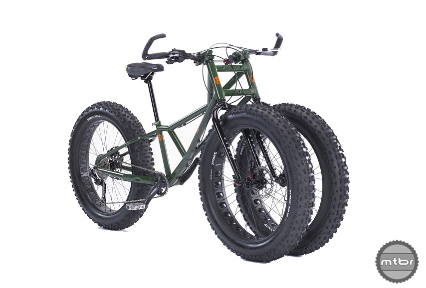 The Rungu Juggernaut Fat Tire trike is made for riding in sand and snow terrain that makes tough-going for even the fattest of tires.