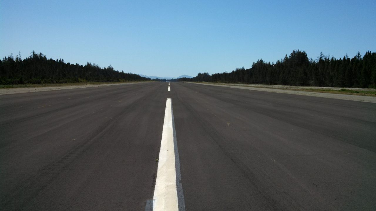 A World War II-era airstrip along the way doesn't see much traffic.