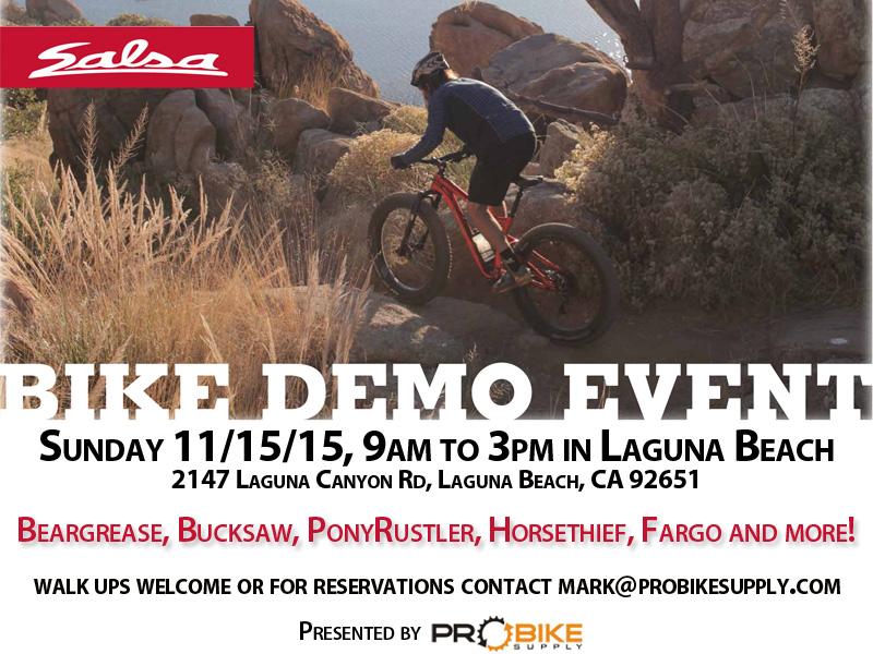 SoCal Demo Event - Sunday 11/15/15 in Laguna Beach-salsa-demo_pro-bike-supply.jpg