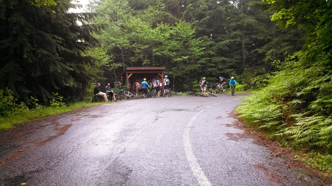 A pleasant four-mile paved climb delivers riders to the top of the Sandy Ridge trail network.