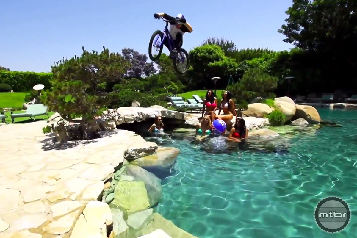Danny MacAskill with bouncing bunnies