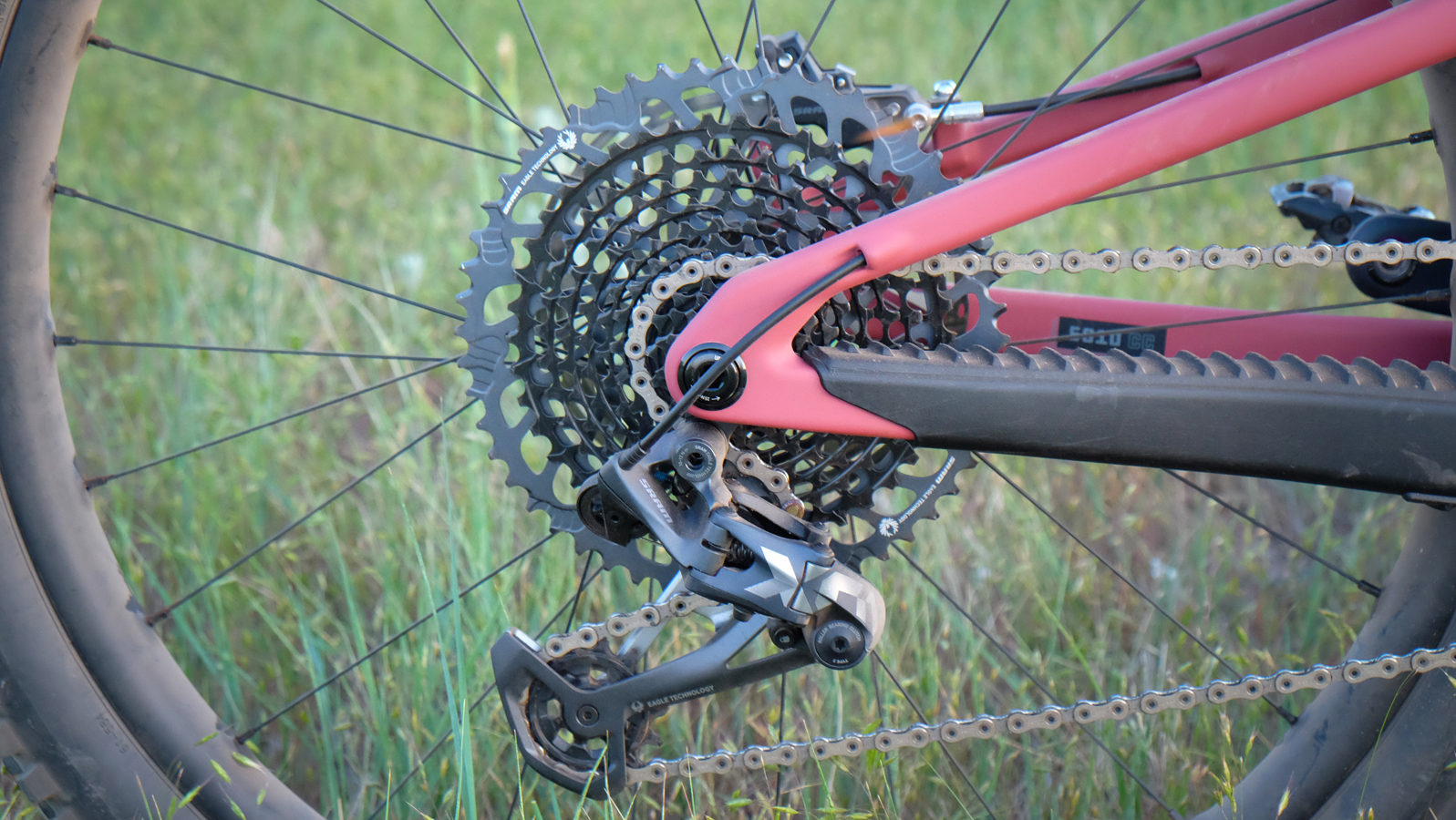 Our test bike came equipped with SRAM's Expanded Range XO1 drivetrain.