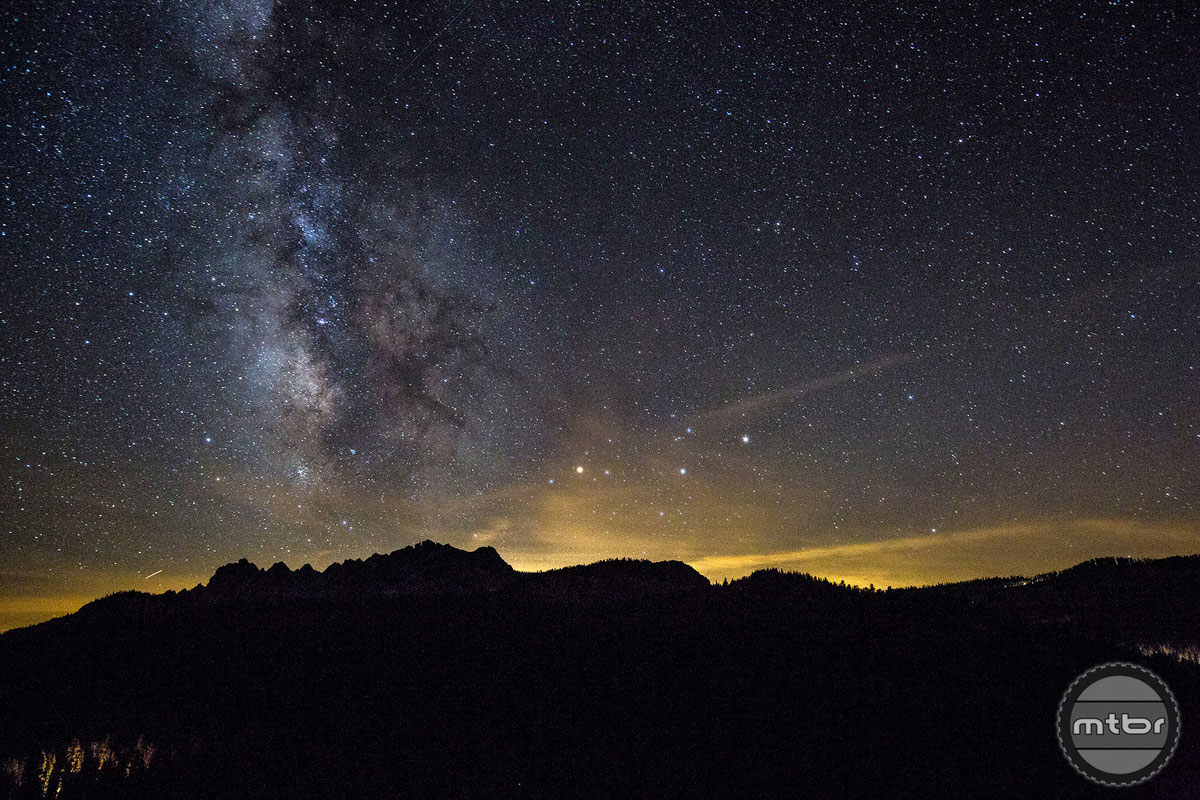 The skies above Downieville, CA are unpolluted by city lights.