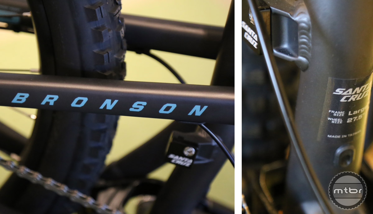 The alloy Bronson is available with two different build kits. This is the more affordable of the two. For an additional $900, you get a Pike RC fork, GX1 drivetrain, and Guide R Brakes.