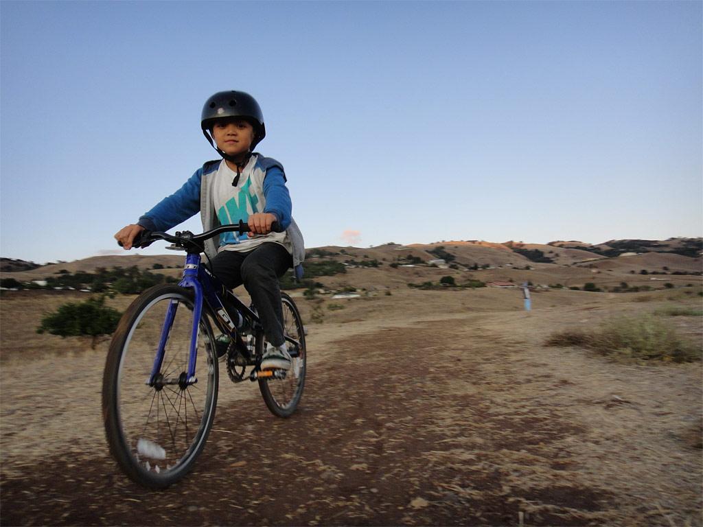 Santa Cruz Blur TRc - Out riding with my son