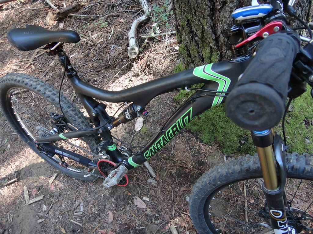 Santa Cruz Blur TRc - Braille Trail...ready to drop in