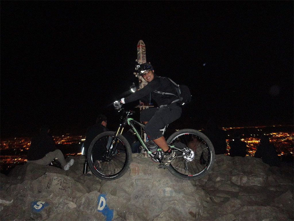 Santa Cruz Blur TRc - Night riding at Mission Peak