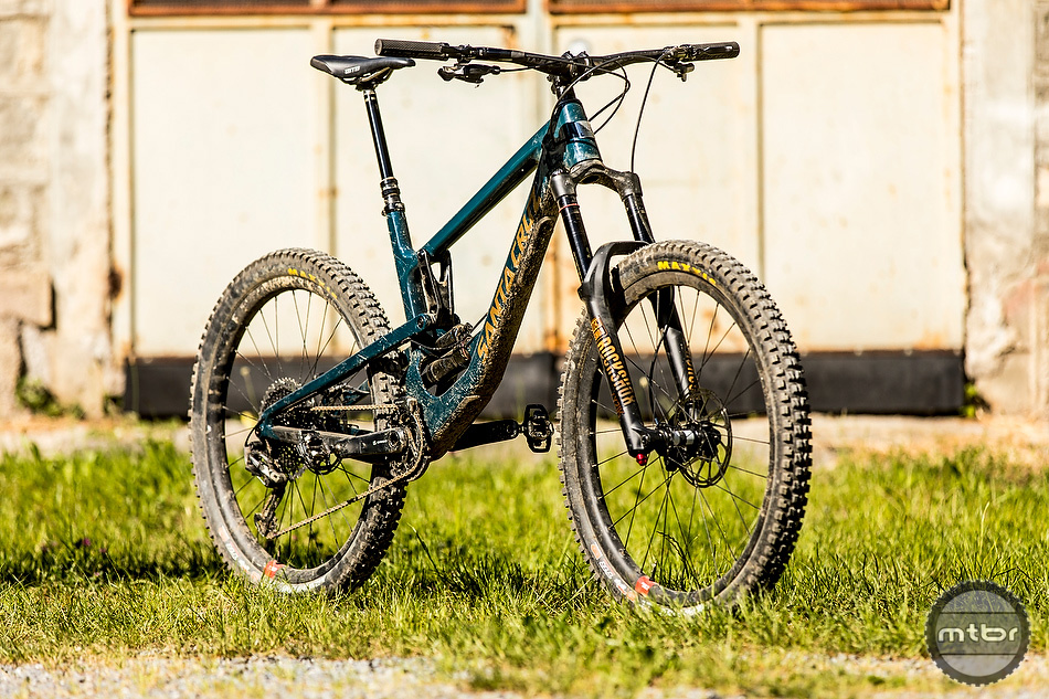 "The fourth gen version of the Santa Cruz Nomad sits on 27.5"" wheels and has 170mm of travel front and rear."