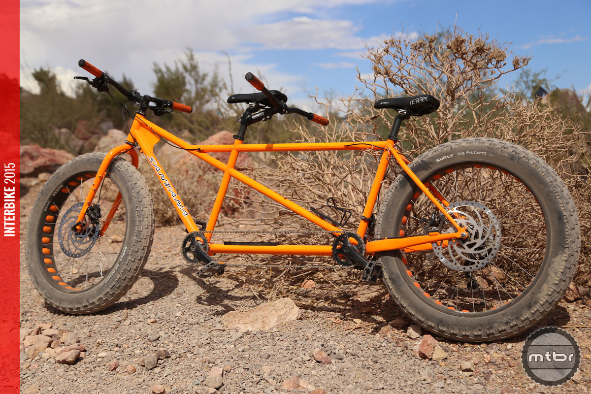 interbike 2015 santana cycles drop fat tandem mountain. Black Bedroom Furniture Sets. Home Design Ideas