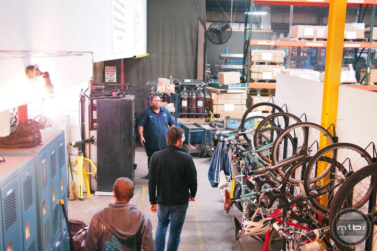 Saris Factory Employee Bikes