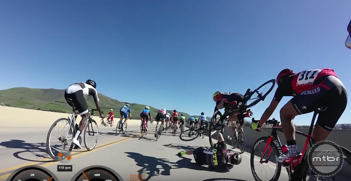 Santa Barbara Road Race 2017 Final Sprint Crash