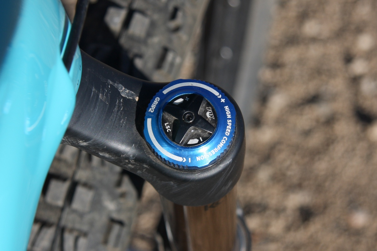We love the adjustability of Fox's GRIP 2 damper — and if you don't know where to begin, Yeti has a handy on-line suspension set-up page that help get you started in the right direction.