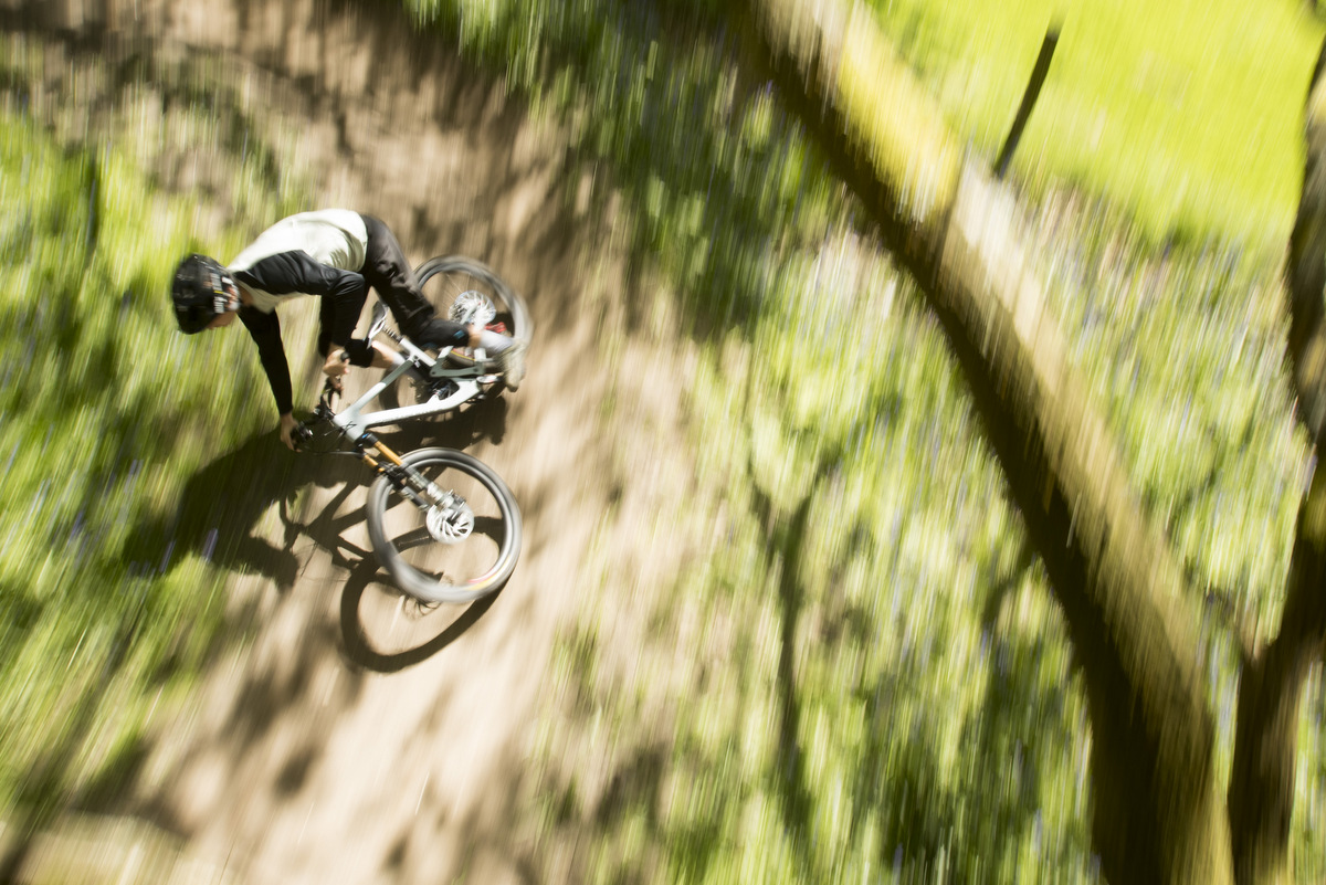 Josh Bryceland demonstrates just what this bike is capable of.