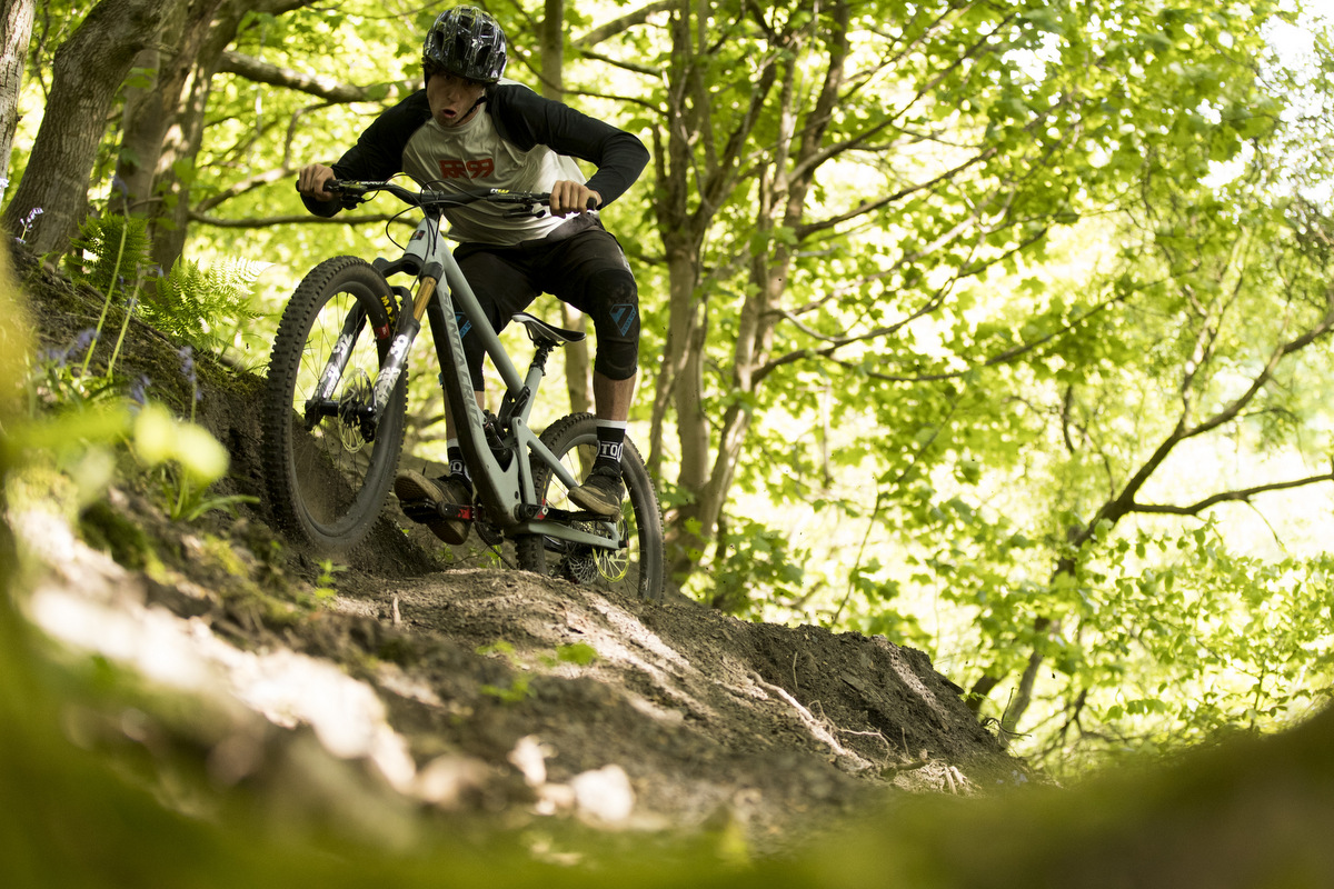 Long and slack bikes reward a very active riding style